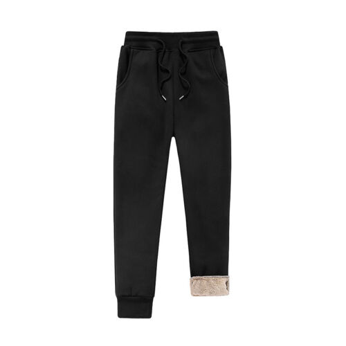 Mens Winter Athletic Pants Fleece Lined Thick Trousers Warm Joggers Sweatpants T
