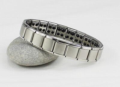 Titanium Power Nano Energy Bracelet Stainless Steel Balance Magnetic Band 80 !