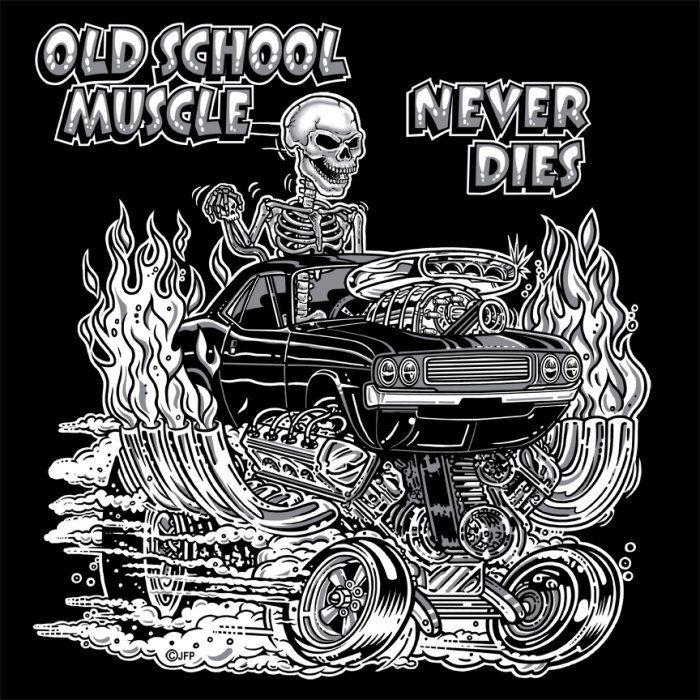 1970s OLD SCHOOL MUSCLE HOT ROD GASSER DRAG CAR BLOWER SKULL SWEATSHIRT