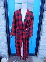 Pottery Barn Sz M/ L Monogram l Buffalo Check Flannel Plaid Red Black Cozy