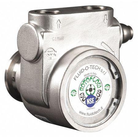 """FLUID-O-TECH PA 1011 Pump,1//2/"""" NPTF,327 Max GPH,SS,Bypass"""