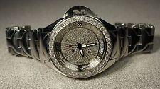 7.25 ctw AquaMaster Mens Skeleton Diamond Watch  Diamond Bezel And Diamond Dial