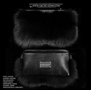 Fox Fur Handbag Luxury Purse Bag Clutch
