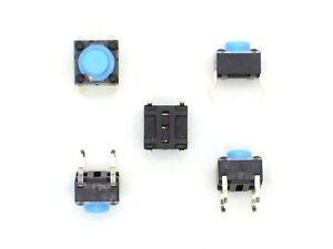 5x-Mikro-Eingabetaster-12V-50mA-6x6x5mm-Taster-Kurzhubtaster-Autoradio-Nr-13