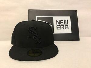 Chicago White Sox Custom New Era 59FIFTY Fitted MLB Black Black ... f0e5737f96f