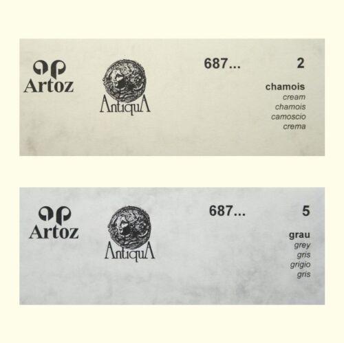 50 Artoz Papier AntiquA Bogen einfach DIN A4 90g Farben