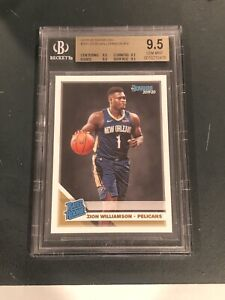 2019-20 Donruss Rated Rookie Zion Williamson #201 RC BGS 9.5 GEM MINT - Invest📈