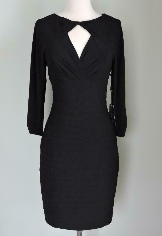NWT Adrianna Papell schwarz Cutout Neck & Back Sheath Dress 4 or 6