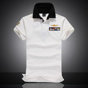 3978dcfb2fc8 Image is loading New-Aeronautica-Militare-Cotton-Polo-Shirt-Men