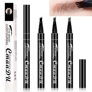 Patented Microblading Eyebrow Tattoo Pen Waterproof Fork Tip Sketch Makeup Ink