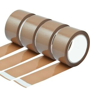 STRONG-BROWN-PARCEL-PACKING-PACKAGING-TAPE-SELLOTAPE-CARTON-SEALING-50MM-X-66M