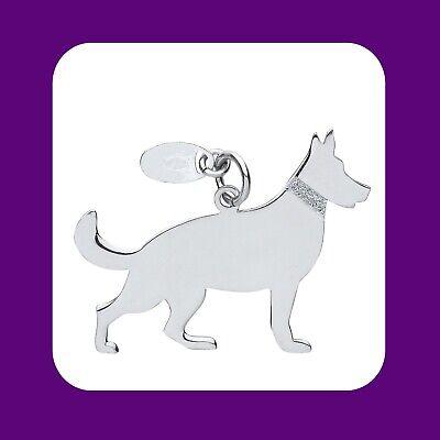 "German Shepherd Dog Pendant Solid Silver 925 Hallmark Pet Jewellery 14-30"" Chain Geurig Aroma"