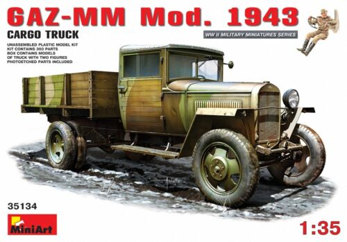 Miniart 1:35 GAZ-MM Mod.1943 1.5t Cargo Truck MIN35134