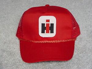 International Harvester Logo Hat Red