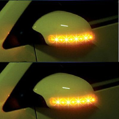 New Car 2x Amber SMD 13LED 12V Rearview Side Mirror Turn Signal Lights Ornate