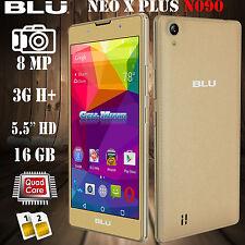 "BLU Neo X Plus N090U Android 5.1 3G H+ 8GB 5.5"" HD 8MP Unlocked GSM Phone Gold"