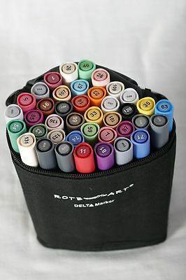 Grafikpaket Rotbart Delta Marker 40er Set A + B + C + Fineliner 6er +Markerblock