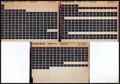 Kataloge & Prospekte DemüTigen Volvo Ec 20 Xt_xtv_2000_ersatzteiliste_ersatzteil_katalog_liste_microfiche_fich Diversifiziert In Der Verpackung