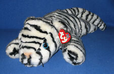 TY WHITE TIGER BEANIE  BUDDY - MINT with MINT TAGS