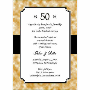 25 personalized 50th golden wedding anniversary invitations ap020 image is loading 25 personalized 50th golden wedding anniversary invitations ap020 stopboris Images