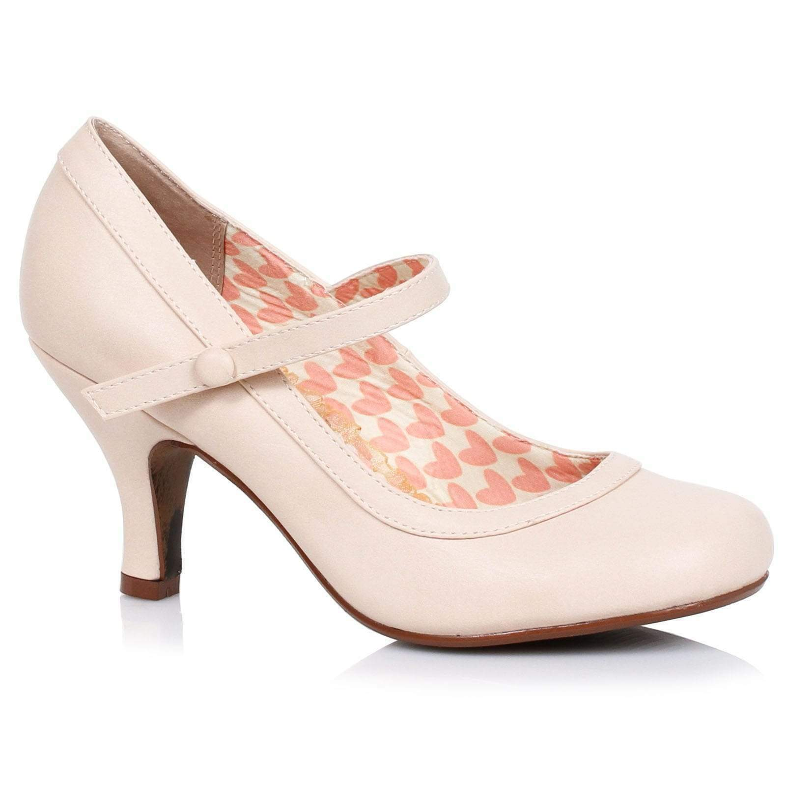 Bettie Page Bettie Mary Jane shoes - Nude - Vintage Retro Rockabilly 50s 5-11