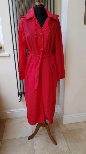 Pac Trench Red Belted Ladies Coat Danimac Størrelse M Rain Mackintosh En w4g7HqaH
