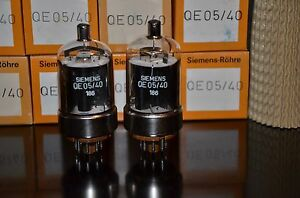 Matched-Pair-2-PCs-Siemens-NOS-NIB-qe05-40-6146b-Roehren-Made-in-W-Germany