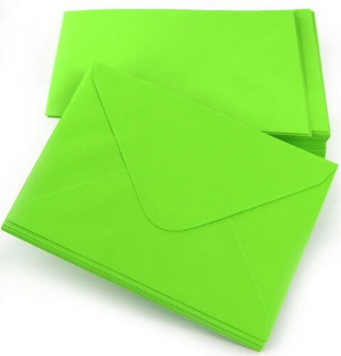 """100 x Lime Green Envelopes 114x162 4x6/"""" for Greeting Cards Party Invitations"""