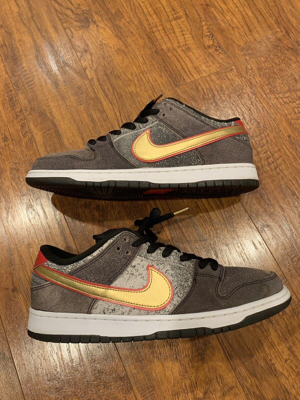 Nike SB Dunk Low Premium QS Beijing Black Metallic gold Red (504750-077)