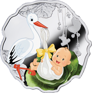2018-Cameroon-Born-to-be-Happy-Newborn-Baby-1-2-Oz-Silver-Color-Proof-Coin-Stork