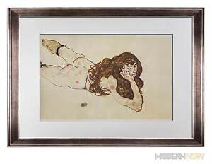 Egon-SCHIELE-Lithograph-SIGNED-Dated-ed-Limited-Ed-of-100-Woman-Lying-034-FRAME