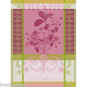 Garnier-Thiebaut-French-Cotton-Fine-Tea-Dish-Kitchen-Dish-Towel-Gift-STRAWBERRY