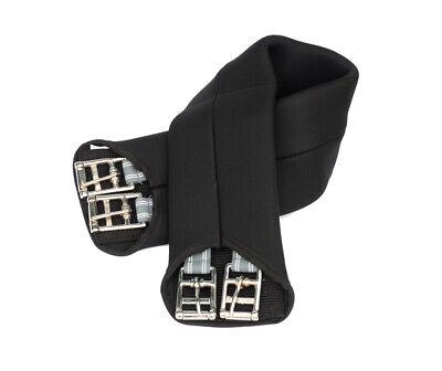 FSS Comfort SOFT Neoprene No Rub Anti Chafe ELASTIC Dressage Short Girth Black