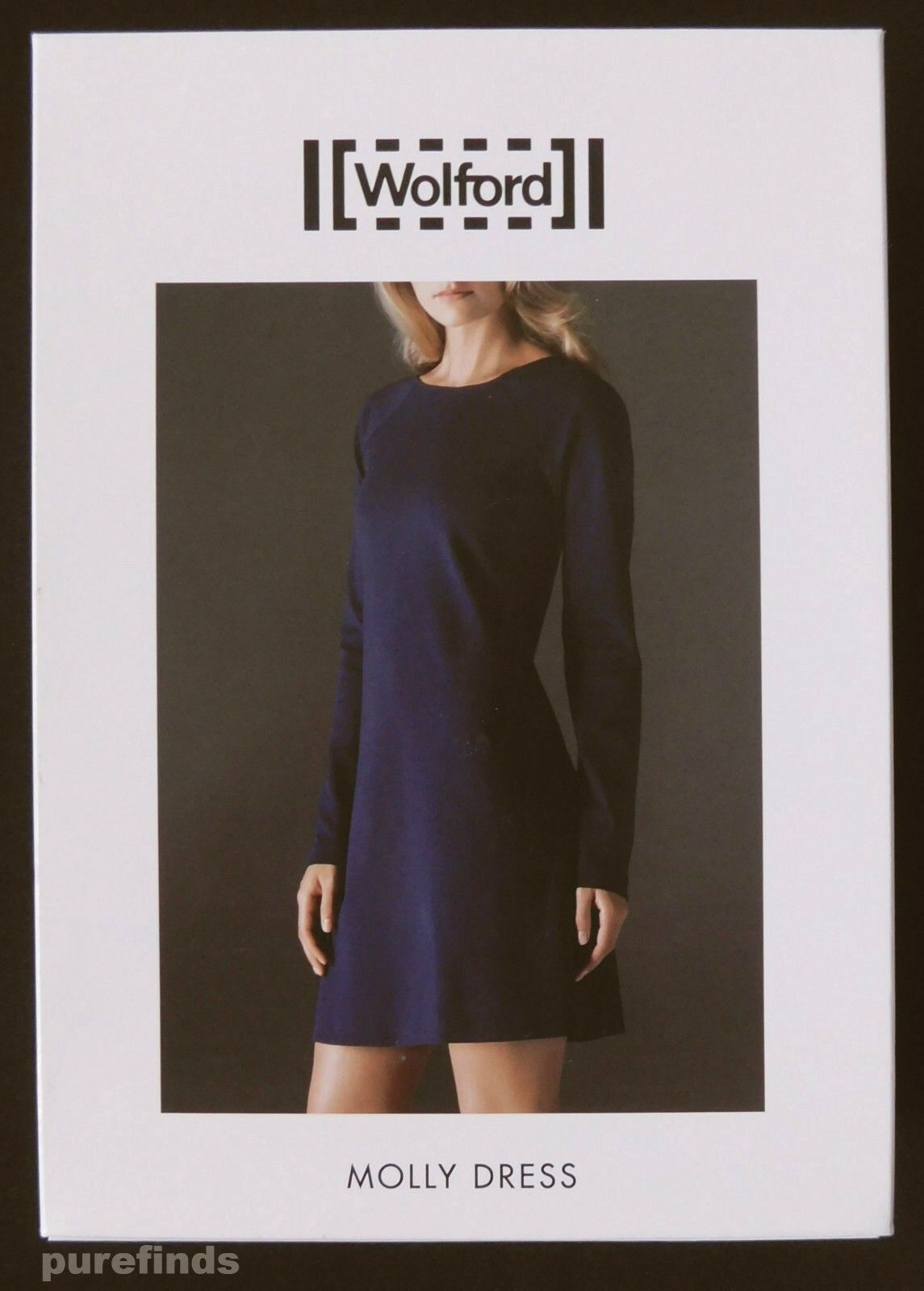 WOLFORD MOLLY DRESS IN NAVY, SIZE 42, USA 12, RRP  New in box