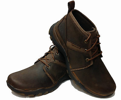 Mens Skechers Leather Memory Foam Lace Up Ankle Boots Shoes Size 6.5-11