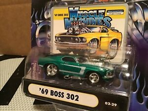 1969 MUSTANG Boss 302  FORD  muscle machine  funline  1/64 green blower