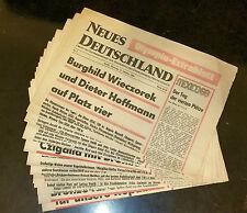 """Olympiade Mexico 1968, 13 Olympia-Extrablätter der Zeitung """"Neues Deutschland"""""""