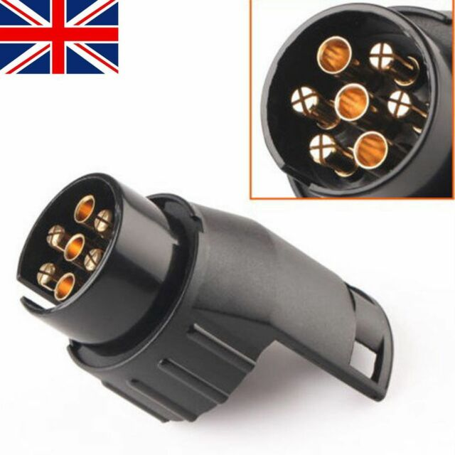 7 Pin to 13Pin Car Truck Trailer Adapter Connector Towbar Socket Towing Plug UK
