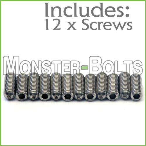 M3 x 8mm Stainless Steel Saddle Height Screws Qty 12 For Fender MIM Stratocaster