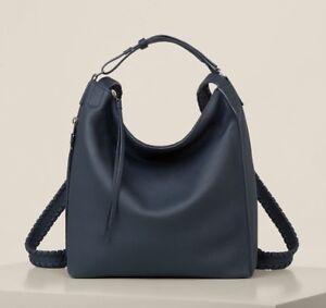 Allsaints-Kita-Mochila-Bolso-pequeno-en-piel-azul-marino-Mujer-Bolso-iconico