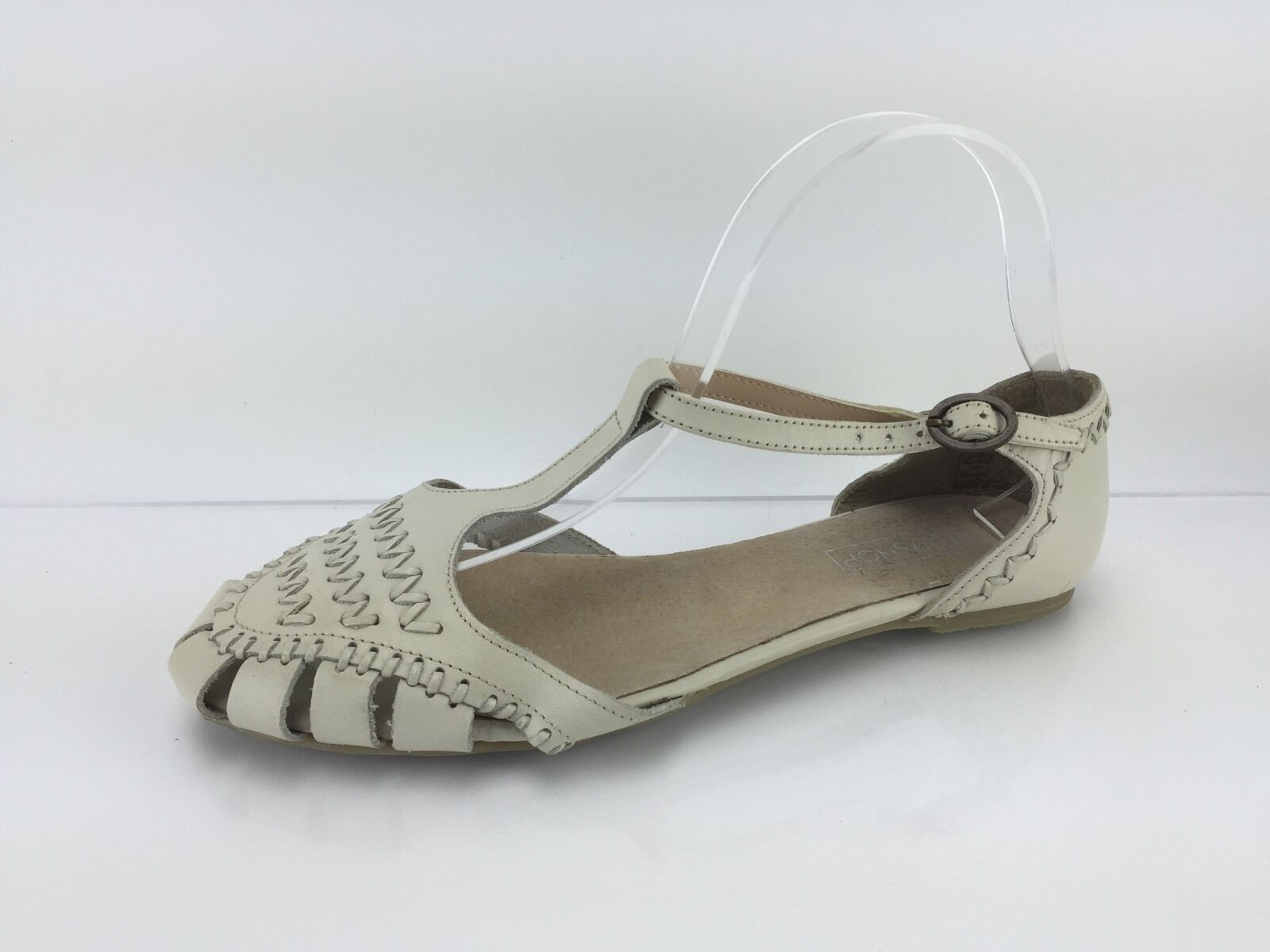 Gentlemen/Ladies Topshop 5 Women's Ivory Leather Sandals 5 Topshop Practical and economical delicate leading the fashion 466321