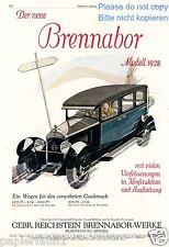 Brennabor Modell 1928 XL Reklame Reichstein Bernd Reuters Fahrerin Werbung ad