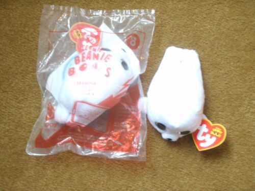 New in Package #8 2017 TY McDonald/'s Teenie Beanie Boo ~White SEAL ~ SEAMORE