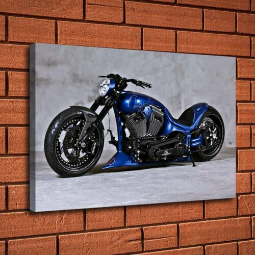 """12/""""x18/""""Motorcycle Blue Painting HD Print Canvas Home Decor Room Wall Art Picture"""