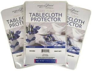 Crystal-Clear-Tablecloth-Cover-Clear-Vinyl-Tablecloth-Protector-All-Sizes-NEW