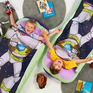 Toy-Story-4-Buzz-L-Junior-Lit-Pret-2-IN-1-Gonflable-Air-Matelas-Couchage-Sac