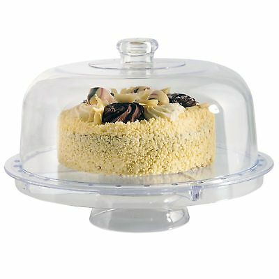 Cake Stand Dome Multifunctional 5 IN 1 Modern Design Salad Bowl Plastic Cover