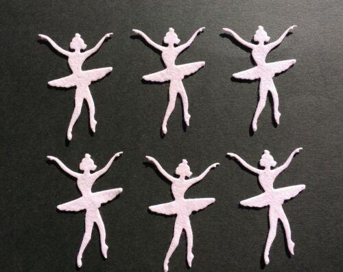 Die Cut tarjeta Topper 6 Rosa Fieltro Bailarina dado corta Adornos álbum de recortes.