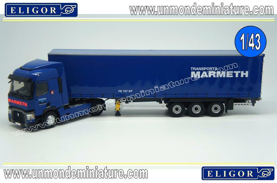 Camion 4x2 RENAULT T avec semi bachée aux couleurs des transports Ma ELI116624