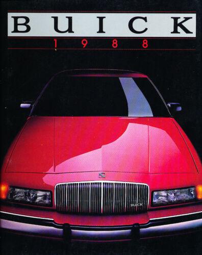 1988 Buick 78-page Sales Brochure Catalog Riviera Century LeSabre Regal